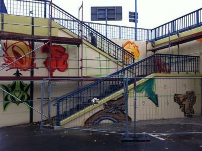 Grafitti-Projekt: Lichtenberger Brücke 8