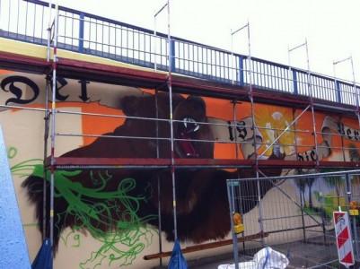 Grafitti-Projekt: Lichtenberger Brücke 12