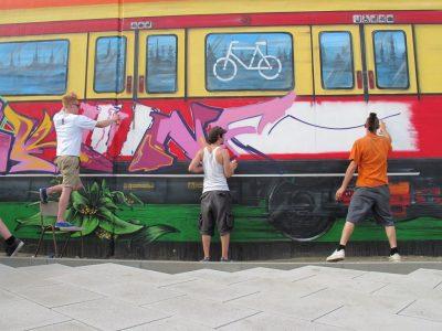 Grafitti-Projekt: Lichtenberger Brücke 6