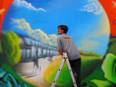 Grafitti-Projekt: Lichtenberger Brücke 7