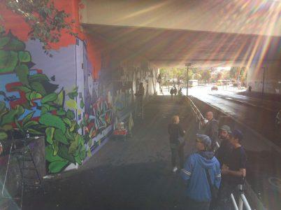 Grafitti-Projekt: Lichtenberger Brücke 21