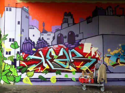 Grafitti-Projekt: Lichtenberger Brücke 22