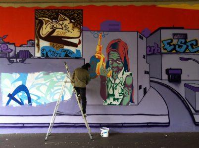 Grafitti-Projekt: Lichtenberger Brücke 23