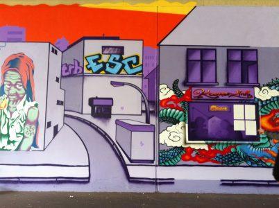 Grafitti-Projekt: Lichtenberger Brücke 24