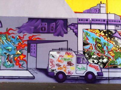 Grafitti-Projekt: Lichtenberger Brücke 26