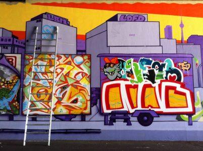 Grafitti-Projekt: Lichtenberger Brücke 27