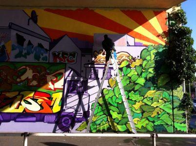 Grafitti-Projekt: Lichtenberger Brücke 30