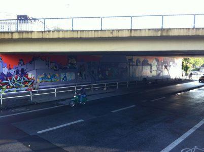 Grafitti-Projekt: Lichtenberger Brücke 31