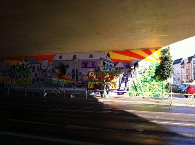 Grafitti-Projekt: Lichtenberger Brücke 32