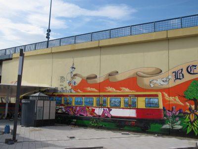 Grafitti-Projekt: Lichtenberger Brücke 2