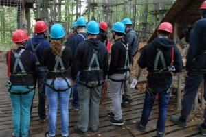 Team Startpunkt & Team Spurwechsel im Hochseilgarten 4