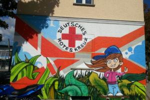 Graffiti (Projekt) am DRK-HAUS 1