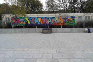 Bucher Graffitikünstler und Geflüchtete verschönern die neue Unterkunft 5