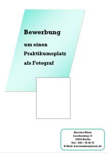 bewerbung deckblatt - Bewerbung Als Fotograf